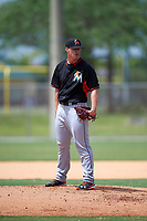 Miami Marlins Austin Brice (35) during a minor league Spring Training intrasquad game on March 31, 2016 at Roger Dean Sports Complex in Jupiter, Florida.  (Mike Janes/Four Seam Images)