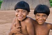 Aldeia Matpu, Xingu Indigenous Park, Mato Grosso State, Brazil. Kakaku and Kaitama Matipu.
