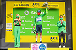 Mark Cavendish (GBR) Deceuninck-Quick Step retains the points Green Jersey at the end of Stage 18 of the 2021 Tour de France, running 129.7km from Pau to Luz-Ardiden, France. 15th July 2021.<br /> Picture: A.S.O./Charly Lopez   Cyclefile<br /> <br /> All photos usage must carry mandatory copyright credit (© Cyclefile   A.S.O./Charly Lopez)