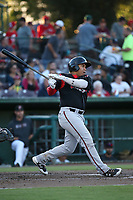 Josh Naylor (32) of the Lake Elsinore Storm bats against the Inland Empire 66ers at San Manuel Stadium on April 29, 2017 in San Bernardino, California. Inland Empire defeated Lake Elsinore, 3-1. (Larry Goren/Four Seam Images)