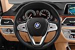 Car pictures of steering wheel view of a 2016 BMW 7 Series 740i 4 Door Sedan Steering Wheel