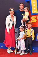 """LONDON, UK. June 16, 2019: Jaqueline Jossa & Dan Osbourne arriving for the """"Toy Story 4"""" premiere at the Odeon Luxe, Leicester Square, London.<br /> Picture: Steve Vas/Featureflash"""