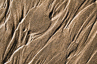 Abstract patterns in sand on the Carters Beach in Westport - Buller Region, Central West Coast, New Zealand