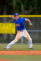 South Dakota State Jackrabbits second baseman Al Robbins #21 during a game against the Ohio State Buckeyes at North Charlotte Regional Park on February 23, 2013 in Port Charlotte, Florida.  Ohio State defeated South Dakota State 5-2.  (Mike Janes/Four Seam Images)
