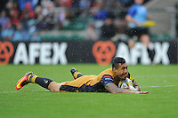Jack Lam of Bristol Rugby scores a try during the Aviva Premiership Rugby match between Harlequins and Bristol Rugby at Twickenham Stadium on Saturday 03 September 2016 (Photo by Rob Munro/Stewart Communications)
