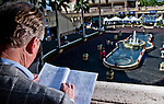 HALLANDALE BEACH, FL - JAN 28: A fan handicaps the races during Pegasus World Cup Invitational Day at Gulfstream Park Race Course on January 28, 2017 in Hallandale Beach, Florida. (Photo by Scott Serio/Eclipse Sportswire/Getty Images)