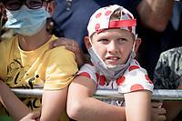 polka dot fan at the race start in Megève<br /> <br /> Stage 5: Megève to Megève (154km)<br /> 72st Critérium du Dauphiné 2020 (2.UWT)<br /> <br /> ©kramon
