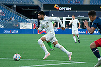 FOXBOROUGH, MA - MAY 1: Marcelino Moreno #10 Midfielder of Atlanta United FC approaches the New England goal during a game between Atlanta United FC and New England Revolution at Gillette Stadium on May 1, 2021 in Foxborough, Massachusetts.