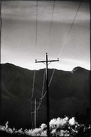 Telephone lines through the desert<br />