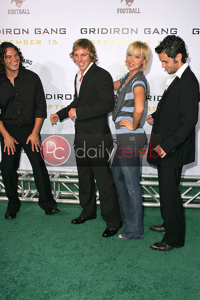 """John Kepa Kruse and Eliot Benjamin with Arielle Kebbel and Penn Badgley<br />at the Los Angeles Premiere of """"Gridiron Gang"""". Grauman's Chinese Theatre, Hollywood, CA. 09-05-06<br />Dave Edwards/DailyCeleb.com 818-249-4998"""