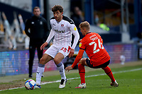 4th May 2021; Kenilworth Road, Luton, Bedfordshire, England; English Football League Championship Football, Luton Town versus Rotherham United; Matt Crooks of Rotherham United under pressure from James Bree of Luton Town