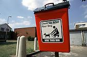 London Borough of Haringey dog waste collection bin.
