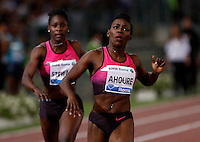 Golden Gala di atletica leggera allo stadio Olimpico di Roma, 6 giugno 2013.<br /> Ivory Coast's Murielle Ahoure wins the women's 200 meters race at the Golden Gala IAAF athletics meeting at Rome's Olympic stadium, 6 June 2013.<br /> UPDATE IMAGES PRESS/Isabella Bonotto