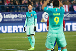 FC Barcelona's forward Neymar Santos Jr (L) and forward Luis Suarez (R)  during the match of Copa del Rey between Atletico de  Madrid and Futbol Club Barcelona at Vicente Calderon Stadium in Madrid, Spain. February 1st 2017. (ALTERPHOTOS/Rodrigo Jimenez)