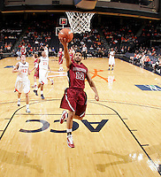 Nov 6, 2010; Charlottesville, VA, USA; Roanoke College Melvin Felix (12) shoots the ball Saturday afternoon in exhibition action at John Paul Jones Arena. The Virginia men's basketball team recorded an 82-50 victory over Roanoke College.