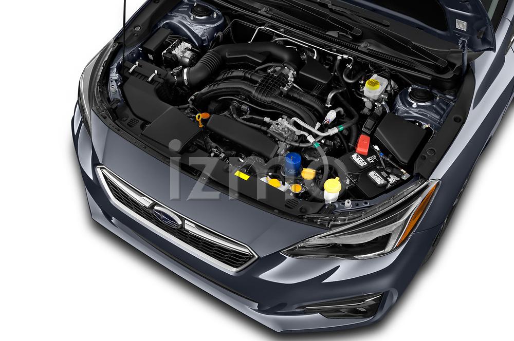 Car Stock 2018 Subaru Impreza 2.0i-Limited-CVT-PZEV 4 Door Sedan Engine  high angle detail view