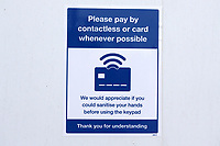 Contactless Payments sign ahead of Essex CCC vs Nottinghamshire CCC, LV Insurance County Championship Group 1 Cricket at The Cloudfm County Ground on 4th June 2021