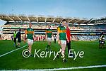 Stephen O'Brien, Kerry, Tom O'Sullivan, Kerry, David Moran, Kerry, Players after the Senior football All Ireland Semi-Final between Kerry and Tyrone at Croke park on Saturday.
