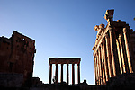 July 2010, LEBANON: The Temple of Bacchus stands in the afternoon light amidst the Bekaa Valley's famed  Roman ruins.Picture by Graham Crouch