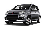 Stock pictures of low aggressive front three quarter view of 2017 Fiat Panda Lounge 5 Door Hatchback Low Aggressive