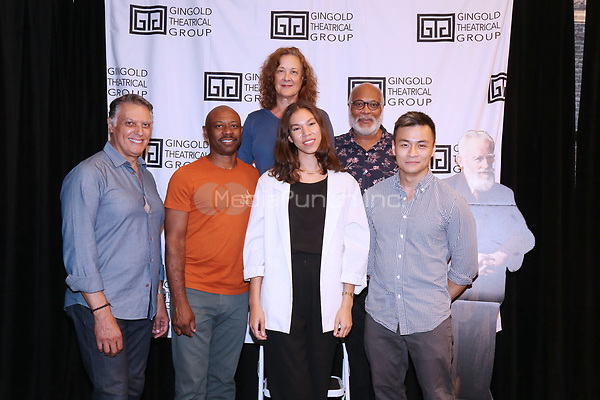 NEW YORK, NY- SEPTEMBER 14: Robert Cuccioli, Alvin Keith, Karen Ziemba, Nicole King, Raphael Nash Thompson and David Lee Huynh attend the photo call for the Off-Broadway play Mrs. Warren's Profession, held at the Ginghold Theatrical Group, on September 14, 2021, in New York City. Credit: Joseph Marzullo/MediaPunch