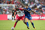 Leicester City FC midfielder Matty James (R) fights for the ball with West Bromwich Albion defender Allan Nyom (L) during the Premier League Asia Trophy match between Leicester City FC and West Bromwich Albion at Hong Kong Stadium on 19 July 2017, in Hong Kong, China. Photo by Yu Chun Christopher Wong / Power Sport Images