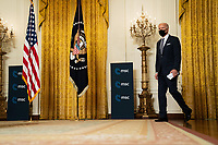 United States President Joe Biden arrives to the East Room of the White House to deliver remarks at a virtual event hosted by the Munich Security Conference, in Washington on February 19th, 2021. <br /> CAP/MPI/RS<br /> ©RS/MPI/Capital Pictures
