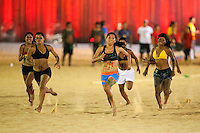 Durante 9 dias 1.800 atletas indígenas: 1.100 de etnias brasileiras e 700 de etnias internacionais participam dos I Jogos Mundiais dos Povos Indígenas, em Palmas no Tocantins entre os dias 23 a 31 de outubro. Diversas modalidades como arco e flecha, arremesso de lança, cabo de força, canoagem, corrida com tora, corrida de resistência (10km), corrida de velocidade (100m), futebol, lutas corporais, natação e canoagem serão disputados pelos participantes, além de esportes e jogos tradicionais específicos de cada etnia que serão apresentados.<br /> <br /> Palmas, Tocantins, Brasil.<br /> Foto Marcello Lourença/Acervo h<br /> out/2015