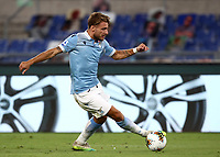 Football, Serie A: S.S. Lazio - Brescia, Olympic stadium, Rome, July 29, 2020. <br /> Lazio's  Ciro Immobile in action during the Italian Serie A football match between S.S. Lazio and Brescia at Rome's Olympic stadium, Rome, on July 29, 2020. <br /> UPDATE IMAGES PRESS/Isabella Bonotto