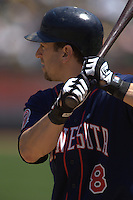 Nick Punto. Minnesota Twins vs Oakland Athletics. Oakland, CA 8/14/2005 MANDATORY CREDIT: Brad Mangin