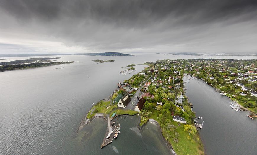 Oslo fra lufta, 20150519. Fram-museet, Bygdøy.  Foto: Eirik Helland Urke