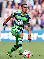 Kyle Naughton during the Barclays Premier League match between Southampton v Swansea City played at St Mary's Stadium, Southampton