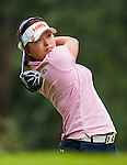 Jin-Young Ko of Korea plays a shot during the Hyundai China Ladies Open 2014 on December 10 2014 at Mission Hills Shenzhen, in Shenzhen, China. Photo by Xaume Olleros / Power Sport Images