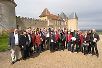 visiting group chateau d'yquem sauternes bordeaux france