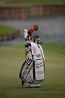 PONTE VEDRA BEACH, FL - MAY 5: The bag of Hunter Mahan rests next to the 13th green during his practice round on Tuesday, May 5, 2009 for the Players Championship, beginning on Thursday, at TPC Sawgrass in Ponte Vedra Beach, Florida.