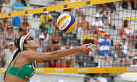 Brazil's Talita Antunes in action at the Beach Volleyball World Tour Grand Slam, Foro Italico, Rome, 22 June 2013. Brazil defeated Switzerland 2-1.<br /> UPDATE IMAGES PRESS/Isabella Bonotto