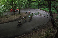 breakaway group in the forest<br /> <br /> Ster ZLM Tour (2.1)<br /> Stage 4: Hotel Verviers > La Gileppe (Jalhay)(190km)