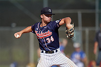 Mitchell Heer (34) during the WWBA World Championship at Lee County Player Development Complex on October 9, 2020 in Fort Myers, Florida.  Mitchell Heer, a resident of Acworth, Georgia who attends North Paulding High School, is committed to Wallace State CC-Hanceville.  (Mike Janes/Four Seam Images)