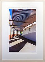 "Architectural Magic, Scottsdale. Framed Size ~28""h x 21""w  $725  Sandwood-finished maple wood frame"