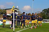 9th October 2021;  VBS Community Stadium, Sutton, London; EFL League 2 football, Sutton United versus Port Vale; Sutton United players warming up.