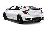 Car pictures of rear three quarter view of 2020 Honda Civic-Si-Coupe Si 2 Door Coupe Angular Rear