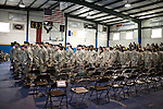 December 13, 2008. Erwin, North Carolina.. A deployment ceremony was held at Cape Fear Christian Academy for B Company 230th Brigade Support Battalion headquartered in Dunn, NC.. The unit is part of the North Carolina National Guard's 30th Heavy Brigade Combat Team, which has 4000 soldiers  deploying to Iraq in April after training. The 30th was last deployed to Iraq in 2003-2005.