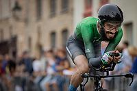 Amjad Khalil (PAK)<br /> <br /> 88th UCI Road World Championships 2021 – ITT (WC)<br /> Men's Elite Time trial from Knokke-Heist to Brugge (43.3km)<br /> <br /> ©Kramon