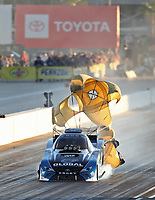Nov 2, 2019; Las Vegas, NV, USA; NHRA funny car driver Shawn Langdon during qualifying for the Dodge Nationals at The Strip at Las Vegas Motor Speedway. Mandatory Credit: Mark J. Rebilas-USA TODAY Sports