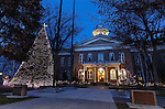 Christmas lights on the Capitol, in Carson City, Nev., on Sunday, Dec. 27, 2014.<br />
