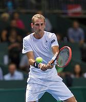Switserland, Genève, September 20, 2015, Tennis,   Davis Cup, Switserland-Netherlands, Thiemo de Bakker (NED)<br /> Photo: Tennisimages/Henk Koster