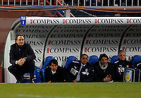 Coach Cesare Prandelli (l,ITA), during the friendly match Italy against USA at the Stadium Luigi Ferraris at Genova Italy on february the 29th, 2012.