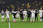 14.02.2020, Signal Iduna Park, Dortmund, GER, 1. BL, Borussia Dortmund vs Eintracht Frankfurt, DFL regulations prohibit any use of photographs as image sequences and/or quasi-video<br /> <br /> im Bild / picture shows / die Mannschaft von Frankfurt nach Spielende unzufrieden / enttaeuscht / niedergeschlagen / frustriert, vor Fankurve / Fans / Fanblock / <br /> <br /> Foto © nordphoto/Mauelshagen