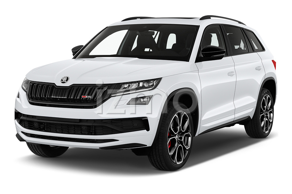 2019 Skoda Kodiaq RS 5 Door SUV Angular Front automotive stock photos of front three quarter view