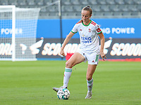 Sari Kees (2) of OHL with the ball during a female soccer game between Oud Heverlee Leuven and Standard Femina de Liege on the third matchday of the 2021 - 2022 season of Belgian Womens Super League , Sunday 5 th of September 2021  in Leuven , Belgium . PHOTO SPORTPIX.BE | SEVIL OKTEM